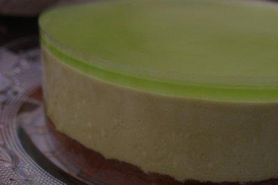 抹茶のムースケーキ