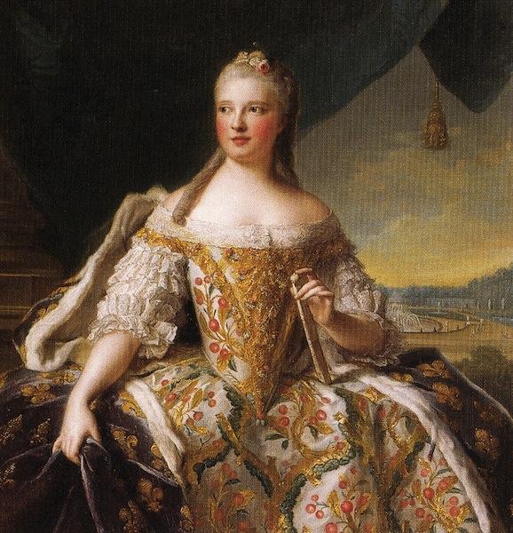 Marie-Josephe of Saxony, Dauphine de Saxe by Jean-Marc Nattier