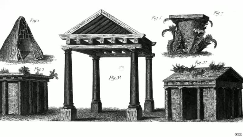 マルク・アントワーヌ・ロージェ《原始の小屋》
