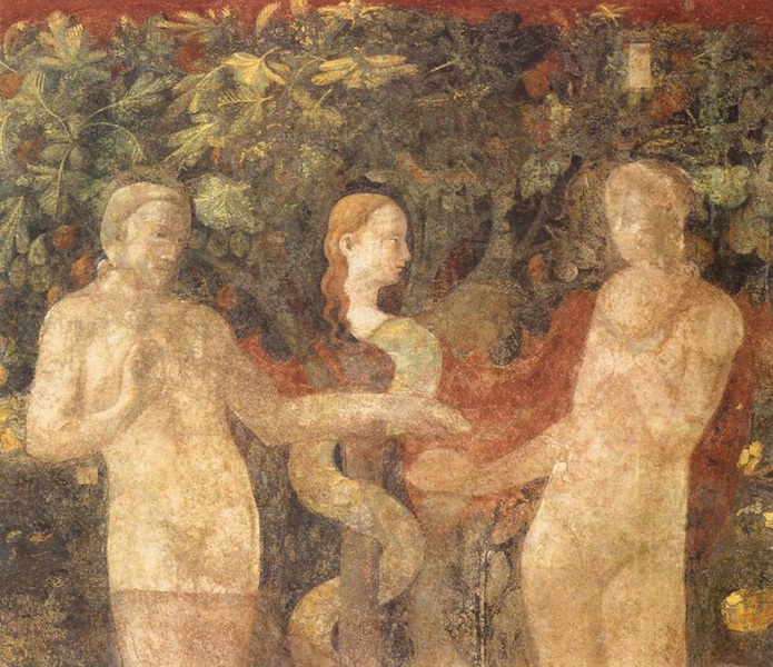 UCCELLO  Paolo Creation of Eve and Original Sin (detail) 1432-36 ウッチェロ
