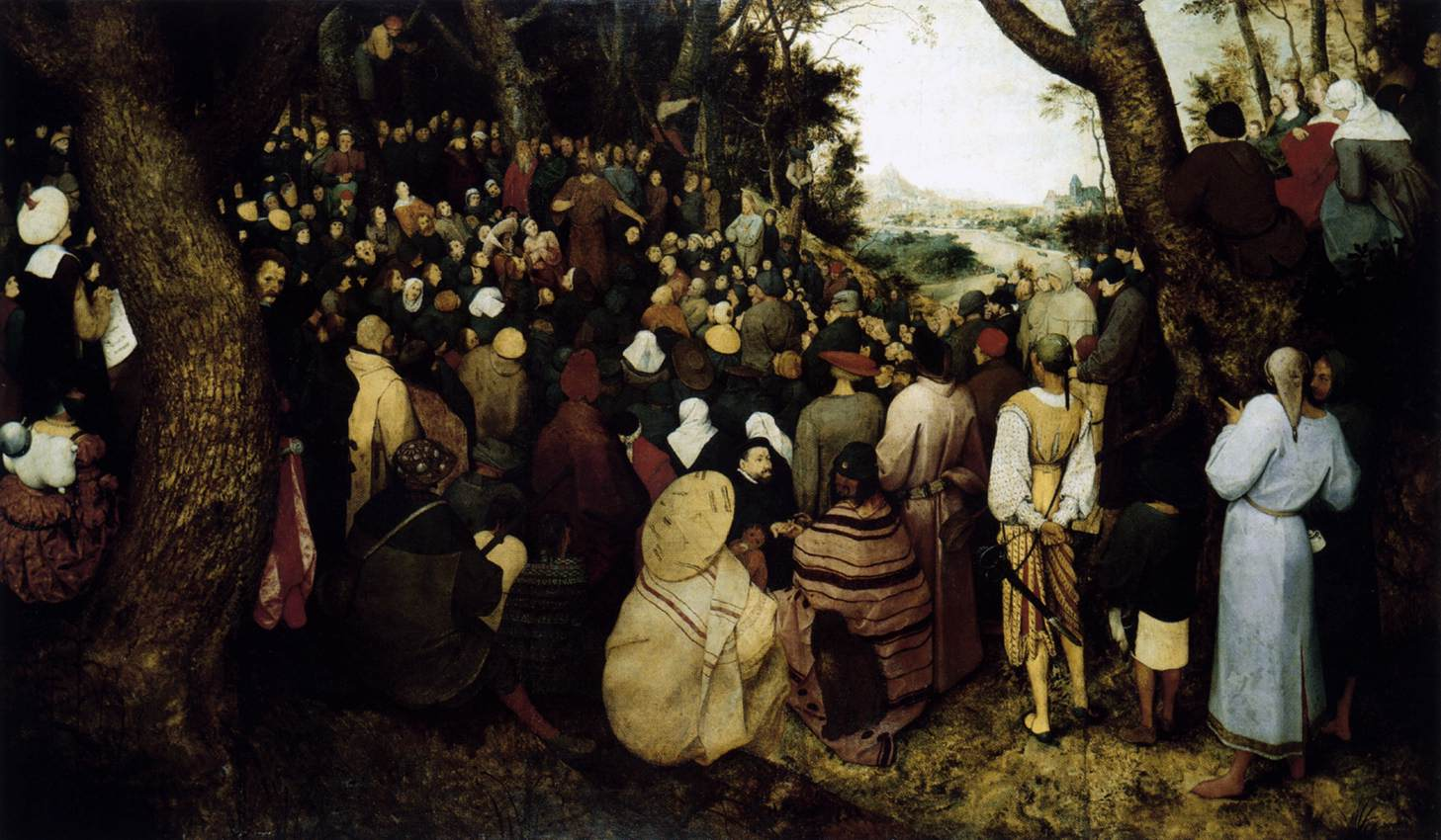 BRUEGEL, Pieter the Elder The Sermon of St John the Baptist 1566