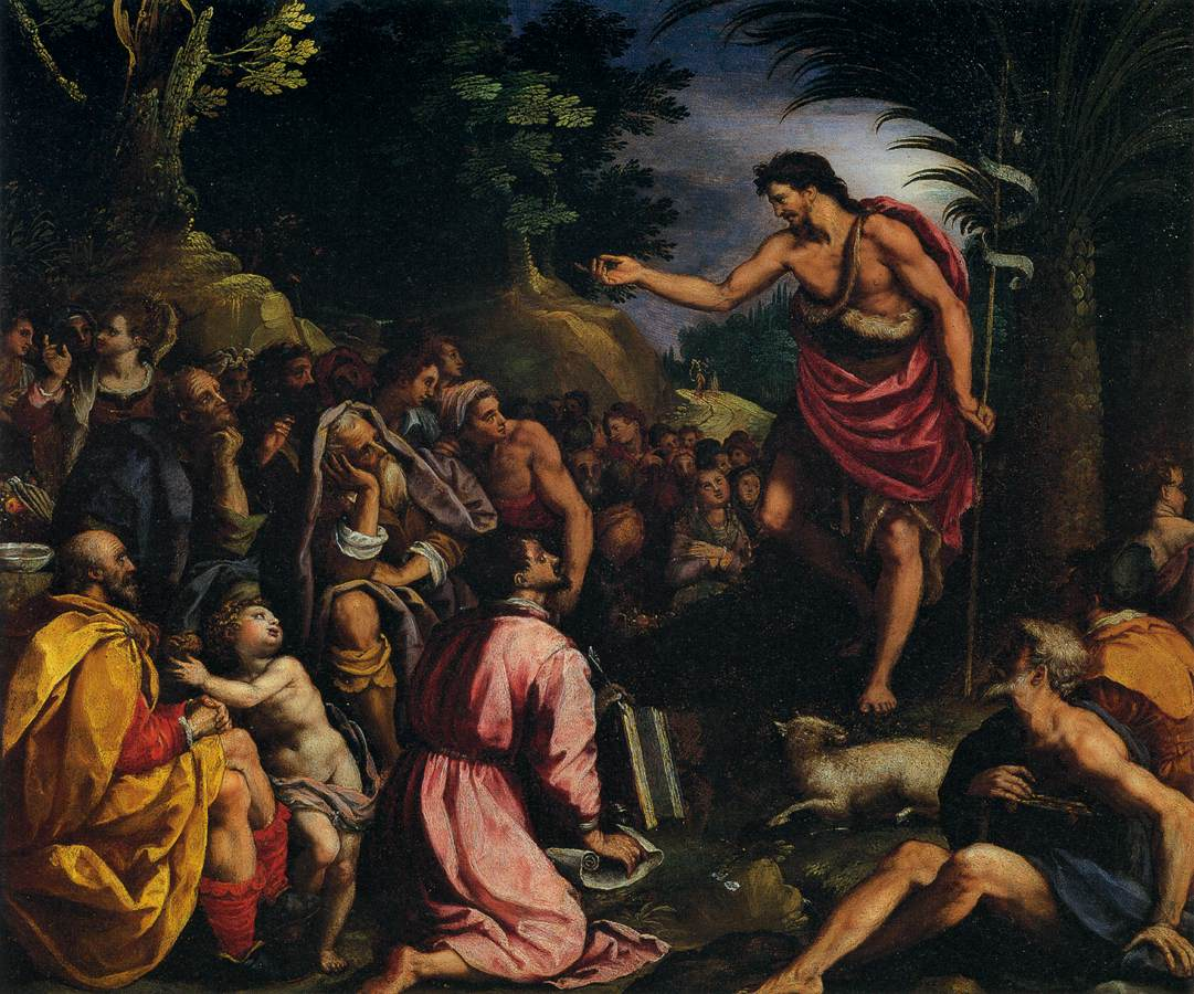 ALLORI, Alessandro The Preaching of St John the Baptist 1601-03