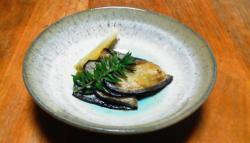 茄子のオリーブオイル炒め