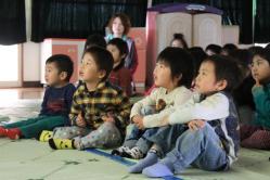 【ご報告】5月11日 岩手県大槌の保育園・幼稚園で移動映画館開催しました。