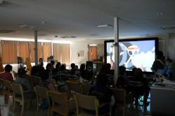 岩手県 大槌 仮設住宅 集会場 和野っこハウス 移動映画館 映画上映 映画鑑賞 8