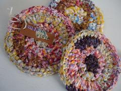 裂き編みコースター