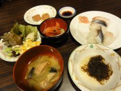 石水亭 夕食1