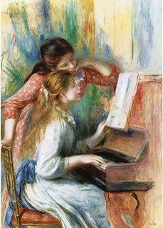 パリピアノの弾く少女