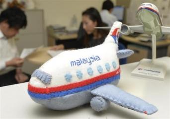 マレーシア航空のオフィスに贈られたぬいぐるみ