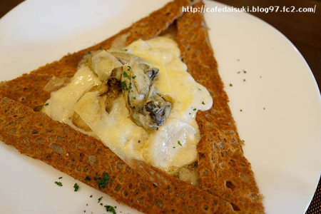 Acacier Salon de the◇牡蠣と蕪と白ねぎ ホワイトソースを包んだそば粉のガレット