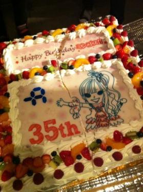 35歳ケーキ