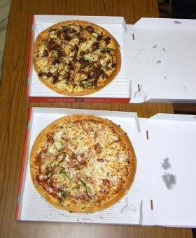 ピザ食って