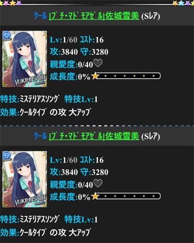 SR雪美×2枚