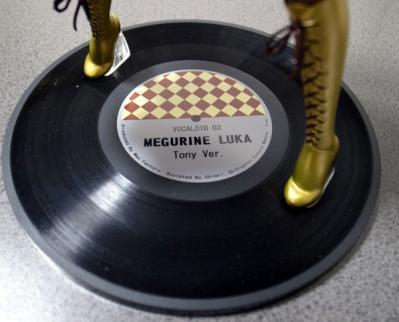 レコードが台座