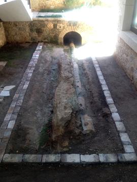 ローマ時代の下水道跡