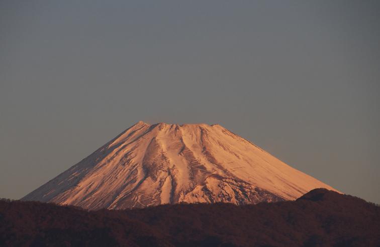 29日 6ー43 今朝の富士山-1