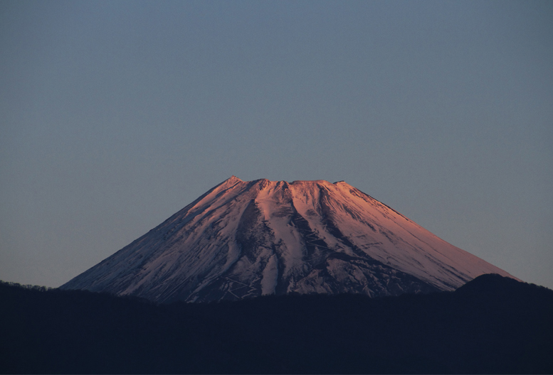 1日 6ー51 今朝の富士山-2