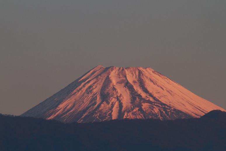 3日 6ー41 今朝の富士山
