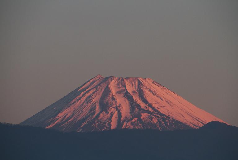 5日 6ー14 今朝の富士山