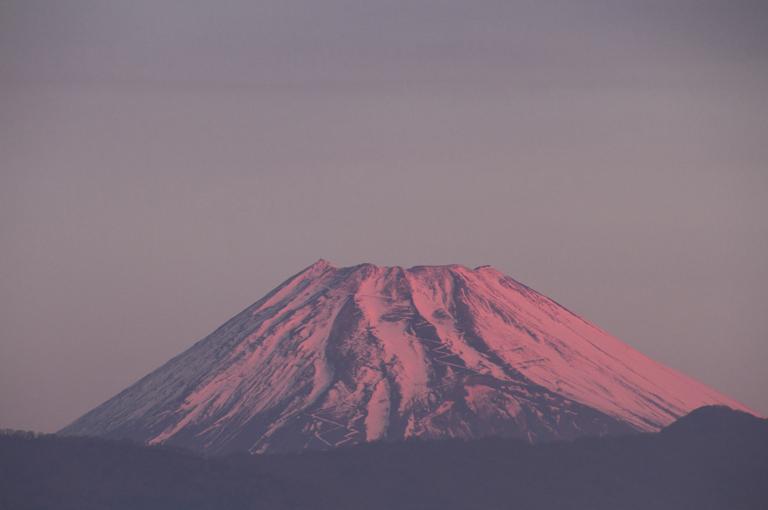 6日 6ー35 今朝の富士山