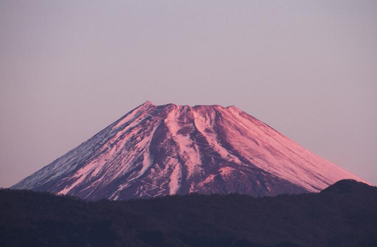 16日今朝の富士山1-2