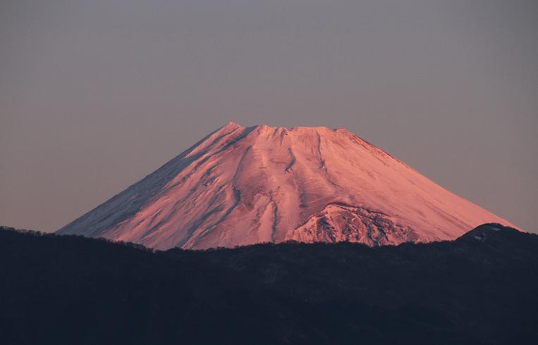 21日 6ー47 今朝の富士山-1