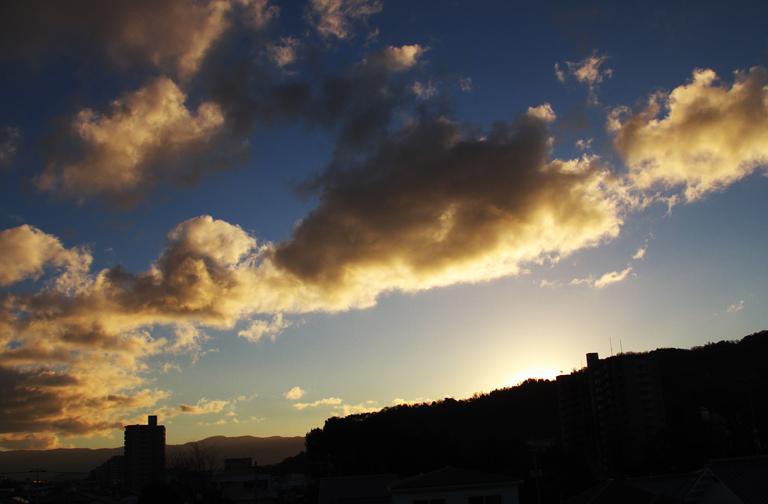 21日 7ー14 東の空