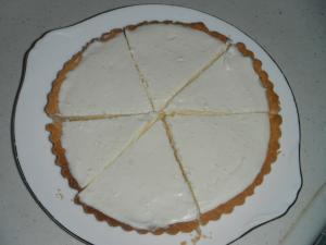 タルトでレアチーズケーキ