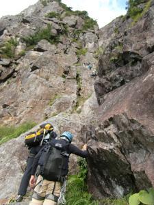 錫杖中央稜P2右岩壁左ルート1