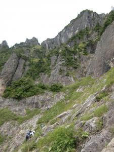 錫杖中央稜P2右岩壁左ルート4