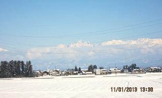 雪晴れの立山