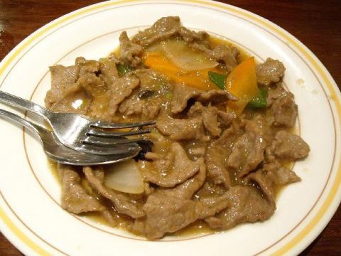 張園・牛肉のカキ油