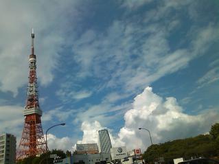 東京タワーと積乱雲