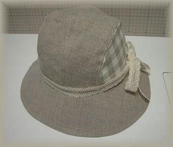 リネンの帽子x1