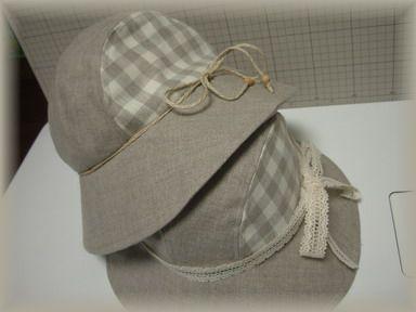 リネンの帽子X2