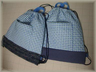 体操服袋2つ