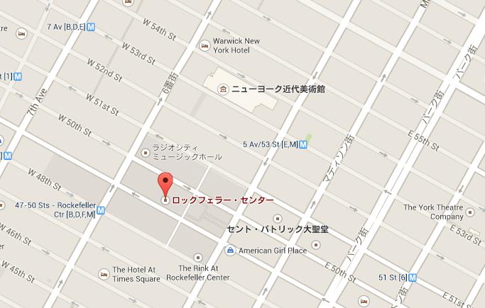 ロックフェラーセンター地図