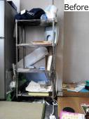 冷蔵庫と小棚(Before)