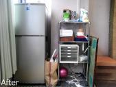 冷蔵庫と小棚(After)