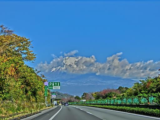 富士川SA付近