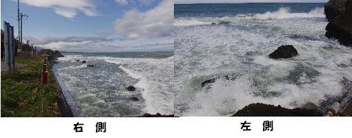 左右とも海