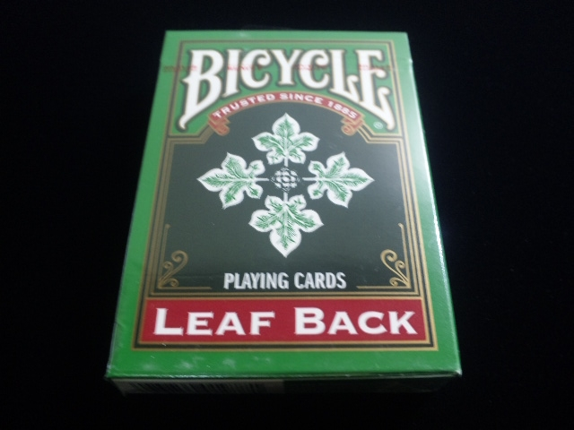 Leaf Back holiday Playing Cards Green (BICYCLE) (1)