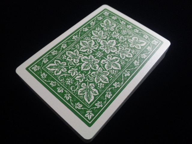 Leaf Back holiday Playing Cards Green (BICYCLE) (4)