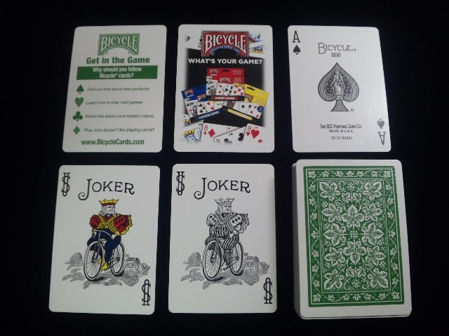 Leaf Back holiday Playing Cards Green (BICYCLE) (5)