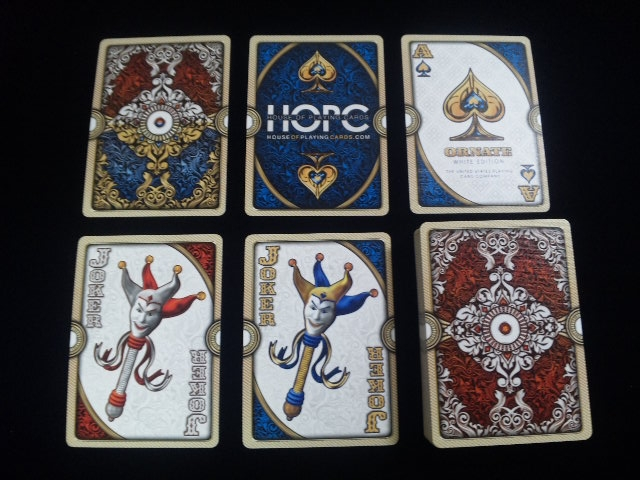ORNATE White Edition Playing Cards (5)