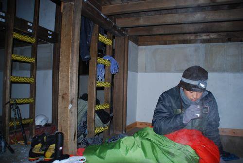 2冬期小屋での年越し