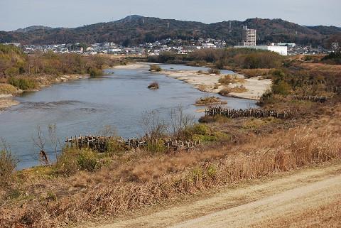 矢作川の護岸水制