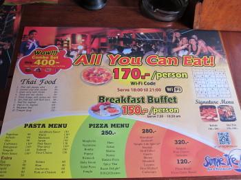 タオ島、ピザ食べ放題