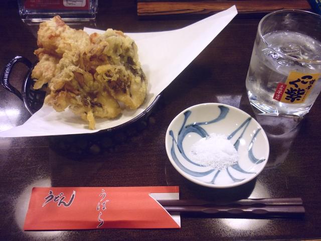 芋ロックと天ぷら