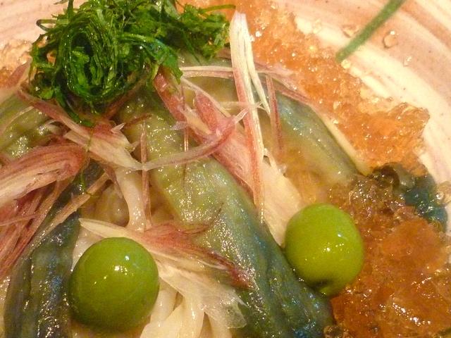 活麺富蔵 茄子の揚げびたし ~jyu冷(ジュレ)かけ